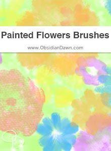 Painted Flowers Brushes photoshop brushes