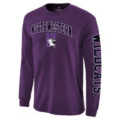 339a202a6 Fanatics Branded Northwestern Wildcats Purple Distressed Arch Over Logo  Long Sleeve Hit T-Shirt Boise