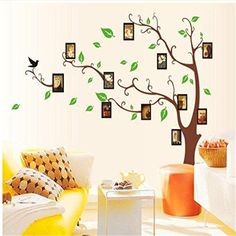 $6.77  - Home Decor Family Photo Frame Tree Removable Decal Room Wall Sticker Vinyl Art ** Continue to the product at the image link. (This is an affiliate link) #WallStickersMurals