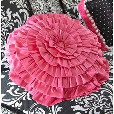 Yin Yang Bedding Collection | Rogue Designs Yin and Yang Fuchsia Linen Pillow