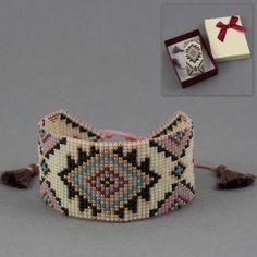 Krosno – wzór na bransoletkę Yellow Pastel Loom Bracelet Patterns, Seed Bead Patterns, Bead Loom Bracelets, Bracelet Crafts, Woven Bracelets, Jewelry Patterns, Beading Patterns, Jewelry Crafts, Loom Patterns