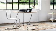 Buy the S 1200 Desk by Thonet from our designer Home Office collection at Chaplins - Showcasing the very best in modern design. Design Furniture, Furniture Styles, Home Decor Furniture, Table Furniture, Filigranes Design, Loft Design, Interior Design, Workspace Design, Wooden Desk