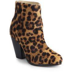 Rag & Bone Newbury Leopard-Print Calf Hair Ankle Boots ($238) ❤ liked on Polyvore featuring shoes, boots, ankle booties, apparel & accessories, leopard, stacked heel bootie, leopard print ankle boots, leopard booties, leopard ankle booties and stacked heel ankle booties