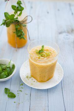 Sips and Spoonfuls: Cantaloupe, Lime and Mint Slushy