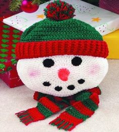 """Snowman Pillow Give a tot this soft """"Frosty"""", and it'll make more than a comfy cushion. It'll become a stuffed friend! countrywomanmagazine.com"""