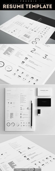 https://www.behance.net/gallery/15677411/FREE-Resume-Template - created via http://pinthemall.net