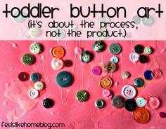 Toddler Button (process art) Craft on http://www.feelslikehomeblog.com