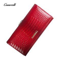 Casos de cartera teléfono COSSROLL Famous Brand Women Purse High Quality Genuine Leather Female Wallet Lady Clutch Bag Hasp Fashion Women Purse Wallet -- Haga clic en la imagen para ver los detalles del producto en el sitio web AliExpress