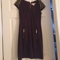 Michael Kors dress Amazing Michael kors dress! Beautiful studded detail. Zipper in the bag. Zipper details. Michael Kors Dresses