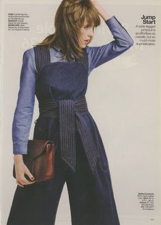April 2015 Lucky Magazine, Overalls, Pants, Fashion, Trouser Pants, Moda, La Mode, Women's Pants, Fasion