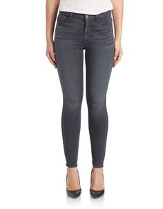 7 For All Mankind Skinny Jeans Women's Bastille Grey 31W