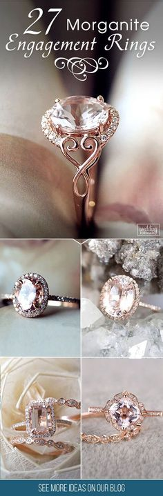 27 Morganite Engagement Rings Were Are Obsessed With ❤ Morganite is named a Crystal of Divine Love. Morganite engagement ring will be wonderful choices, your girl will be have unusual and gorgeous ring. See more: http://www.weddingforward.com/morganite-engagement-rings/ #wedding #engagement #rings #morgani