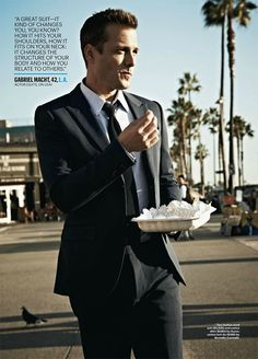 Gabriel Macht (photographed by Tom Munro for Esquire, March 2014) Suits Series