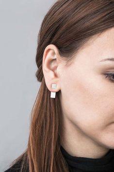 Full Rectangle by Magdalena Paszkiewicz / earrings / silver