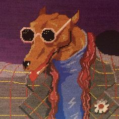 """petit-point embroidery, 1984, from """"domestic animals: the neoprimitive style"""", andrea branzi, 1987."""