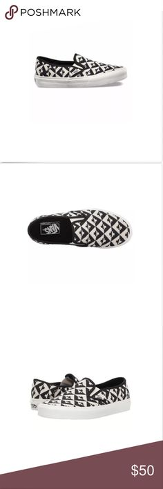 f106bc4534 Vans Classic Slip On SF Geo Checkers Skate Shoes Vans Classic Slip On SF  Geo Checkers Skate Shoes Size Women 9 Brand New In Box Vans Shoes Athletic  Shoes