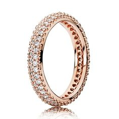 PANDORA Rose™ Inspiration Within Ring | Eternity Rings | Rose Gold Rings Jewelry | Diamond Eternity Rings