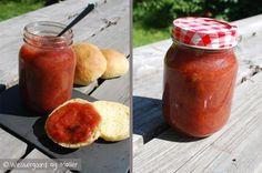Rabarber blomme marmelade