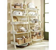 Studio Wall Shelf - Been looking for this in a more extreme width for my living room. I like the kitchen idea!