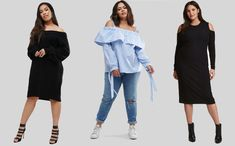 Outfit ideas for the apple body type (plus size) Apple Body Type, Apple Body Shapes, Apple Shape Outfits, Winter Shirts, Body Types, Female Bodies, Spring Outfits, Plus Size Fashion, Shirt Style