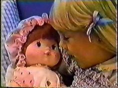 Strawberry Shortcake: Blow-kiss Baby Commercial - 1982/1983.  I still have mine and her kisses STILL smell like strawberry!