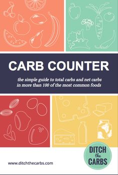 Simple carb counter total and net carbs in more than 100 of the most