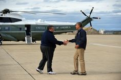 President Obama & Chris Christie Tour Storm Damage