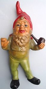 ANTIQUE / VINTAGE TERRACOTTA HEISSNER GARDEN GNOME MADE IN GERMANY