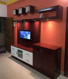 Welcome to Ramya Modular Kitchen & Interiors - TV Unit Box unit Modular Tv Unit Furniture Design, Tv Unit Interior Design, Tv Wall Design, Gate Design, House Design, Modern Tv Unit Designs, Modern Tv Wall Units, Living Room Tv Unit Designs, Tv Unit Decor