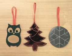 Leather Christmas tree ornaments