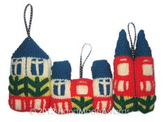 Scandinavian HOUSES Ornaments by HandMadeAwards, $4.50