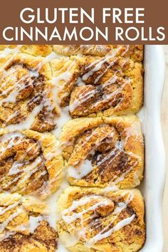 These Gluten Free Cinnamon Rolls are pillowy soft and gooey and so delicious! They're gluten free, paleo-friendly, and are easy enough to whip together! thetoastedpinenut.com #thetoastedpinenut #cinnamonrolls #glutenfreecinnamonrolls #cinnamonbuns #glutenfreecinnamonbuns Clean Dinner Recipes, Clean Eating Dinner, Clean Eating Recipes, Brunch Recipes, Healthy Eating, Healthy Cookie Recipes, Muffin Recipes, Paleo Treats, Slow Cooker Balsamic Chicken