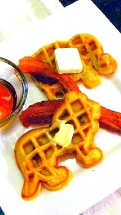 Bacon Filled Waffles ala Tigers & Strawberries! There is a wonderful waffle batter recipe, but let's be honest... BACON BACON BACON BACON BACON BACON BACON BACON BACON BACON BACON BACON Every things better with bacon inside and out
