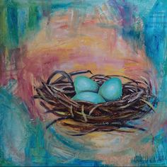 """Robin's Nest"" (Mixed Media) by Anita Laura Art"