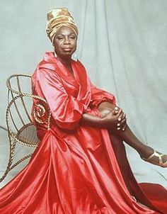 Nina Simone. An American singer, songwriter, pianist, arranger, and civil rights activist. She worked in a broad range of musical styles including classical, jazz, blues, folk, R&B, gospel, and pop.
