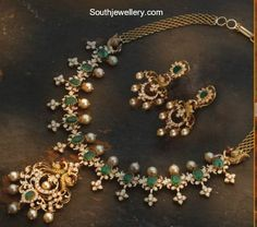 Diamond Emerald Necklace photo