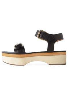Rochas wood platform sandals