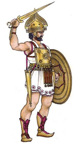 """Guerriero Villanoviano, Etrusco VII-VI secolo a.C"", Marcella Mattesini Greek Warrior, Fantasy Warrior, Iron Age, Greek History, Ancient History, Soldado Universal, Armadura Medieval, Dark Ages, Historical Pictures"