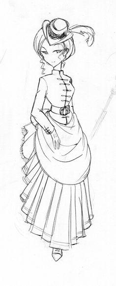 Victorian Assassin Lady by TheStrayLiger.deviantart.com on @DeviantArt