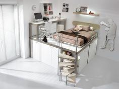 Pokój dla nastolatka, pokój dziecięcy, pokój młodzieżowy, pokój na piętrze. Zobacz więcej na: https://www.homify.pl/katalogi-inspiracji/15335/miejsce-do-nauki-w-pokoju-dzieciecym