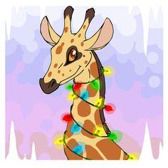 christmas giraffe by mechanicalmasochist.deviantart.com on @deviantART