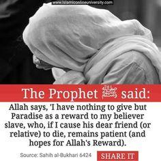 Death of a loved one -Hadith Mubarika 01 Prophet Muhammad Quotes, Hadith Quotes, Muslim Quotes, Quran Quotes, Religious Quotes, Qoutes, Islam Hadith, Allah Islam, Islam Quran