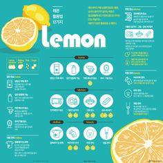 """""""청소부터 미용까지"""" 레몬의 상큼한 12가지 변신 [인포그래픽] #lemon / #Infographic ⓒ 비주얼다이브 무단 복사·전재·재배포 금지"""