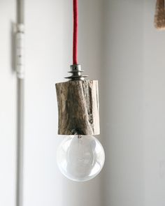 Simple Hudson River Driftwood Pendant Light by BrooksideBungalow, $73,00