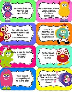 Mots-dencouragements-pour-la-classe-882547 Teaching Resources - TeachersPayTeachers.com