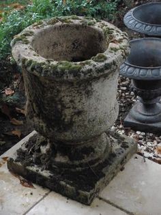 Mossy antique urn - difficult to match this...these are always keepers.