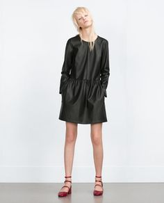 Image 1 of FAUX LEATHER DRESS from Zara