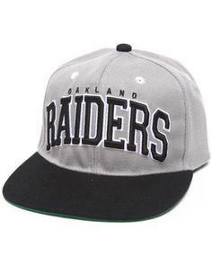 Oakland Raiders Grey Team Logo Snapback Hat. Get it at DrJays.com