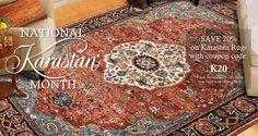 November is National Karastan Month at Rugs A Bound!  Save 20% on Karastan rugs using the coupon code K20!  Valid November 1-30, 2016, at RugsABound.com.