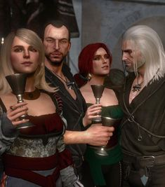 The Witcher Geralt, Witcher Art, Triss Merigold, Fallout Game, Cosplay Costumes, Art Reference, Punk, Anime Meme, Games